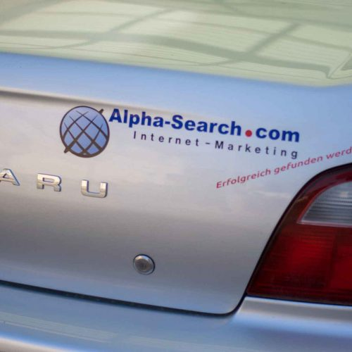 Fahrzeugbeschriftung - Alpha Search